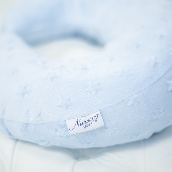 Blue Stars Minky Nursing Pillow
