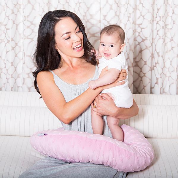 Pink Hearts Minky Nursing Pillow