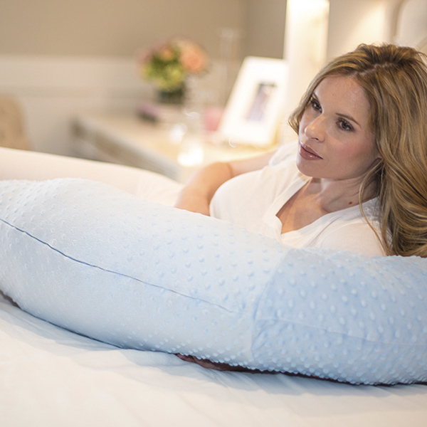 Blue Minky Body Pillow